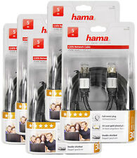5 unidades-hama cat6 5m, cable de red doble STP blindaje 24k cat5 dorado