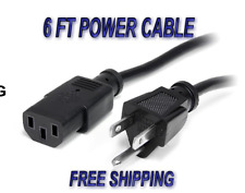 3 Prong Replacement AC Power Cord Cable US Plug for PC Dell, and HP Computer