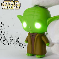 Lot 20 x Cartoon Series Yoda creative LED luminous voice Keychain