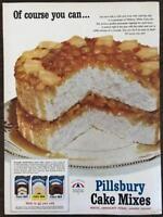 ORIGINAL 1953 Pillsbury Cake Mixes Print Ad Pineapple Upside Down Cake