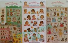 NEW AFROCAT PAPER DOLL MATE 3 SETS. PLANNER DOLL BEAR GIRL STICKERS. USA SELLER.