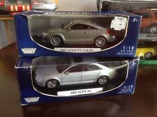 1:18 Diecast Audi Collection / Set 2007 Audi TT Coupe & 2004 Audi A8