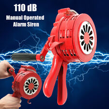 110db Red Hand Loud Crank Manual Air Raid Alarm Siren Handheld Operated Horn