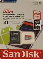 SanDisk 256GB Micro SD SDXC MicroSD TF Class 10 256G 256 GB Mobile Ultra 100MB/s
