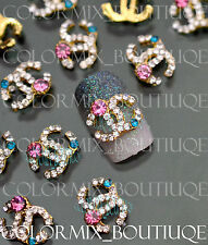 NEW 10pcs Nail Art Decoration  Deluxe Alloy Jewelry Colorful Glitter Rhinestone