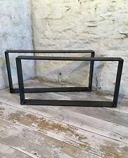 2 fatto a mano Raw Barra piatta in acciaio TAVOLINO upcycle Furniture gambe industriale
