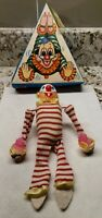 TUMBLING CIRCUS CLOWN WIND UP TOY,  MADE BY SK IN JAPAN  WITH ORIGINAL BOX