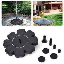 Solar Power Water Floating Flower Pump Fountain Pool Garden Plants Watering Kit
