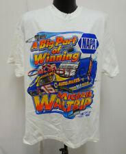 NAPA MICHAEL WALTRIP XL SHIRT 4 SIDED NASCAR MENS VINTAGE RETRO VTG WHITE