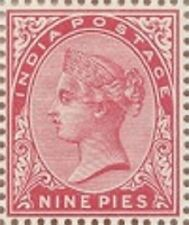 Stamp of QV India  mint no gum