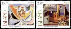 Iceland 1997 Art, Paintings, Song & Harbour, MNH / UNM