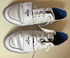 Men's White Creative Creation LEATHER Trainers Size  Uk 7