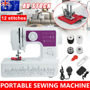 12 Stitches Hand Held Sewing Machine Porable Mini Multifunction Desktop Home Kit