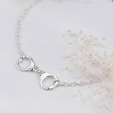 Anklet Silverplated Handcuffs