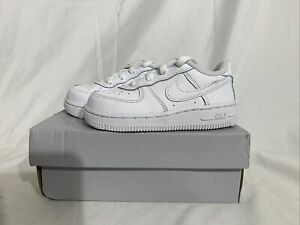NEW Nike Air Force 1 TD 'Triple White' TD Shoes 314194-117 Toddlers Size 7c
