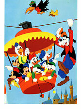 Disney Characters-Amusement Theme Park Aerial Ride Fun-Italy Comic Art Postcard