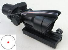 New ACOG Style 4X32 Real Red Fiber Source Crosshair Illuminated Rifle Scope 28