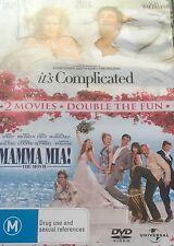 It's Complicated / Mamma Mia Meryl Streep 2-Disc Set Region 4 DVD VGC