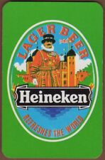 Playing Cards Single Card Old HEINEKEN LAGER BEER Advertising Beefeater Guard 2