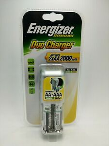 Energiser Rechargeable Duo Charger With 2xAA 2000mAh Batteries Charges AA & AAA