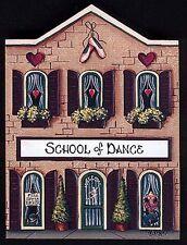 Brandywine Collectible Houses & Shops: SCHOOL OF DANCE - Wooden Shelf Sitter