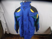 NORDICA SPORTSYSTEM Men's M Ski Snowboard Heavy Coat Hood Color Block Ultrex EUC