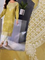 Green Designer Soft Cotton Kurti -Size 42/XL USA  Seller-Free Shipping
