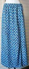 Michael Kors Heritage Blue Lakheri Leaf Slit Maxi Skirt Sz XS NWT