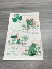 Vintage Greeting Card St Patrick's Day Irish House Top Of The Morning