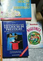 Lotto 3 libri Sock GIOCHI DI PRESTIGIO .PRESTIGIATORI MAGIA