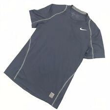 Nike Pro Small Tee Shirt Blue Fitted Men Run Walk Gym Exercise