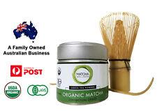 Matcha Starter Set - 40g USDA Organic Ceremonial Grade, Bamboo Whisk & spoon