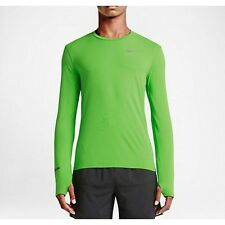 Mens 2XL Nike Dri-FIT Contour Running Shirt Athletic Top Green Pulse 683521 360
