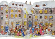 """Adventkalender """"Ritterburg im Winter"""" #552 zum Aufstellen, 26,5 x 35 cm, Glimmer"""