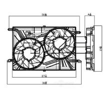 Dual Radiator and Condenser Fan Assembly TYC 621930