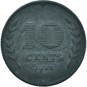 COIN / THE NETHERLANDS / 10 CENT 1942  #WT19786