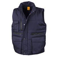 Result NAVY DARK BLUE Workguard Padded Gilet Vest Bodywarmer