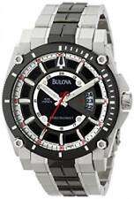 Bulova 98B180 Mens Black Dial Precisionist Black-Tone Stainless Steel Date Watch
