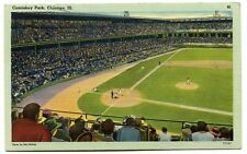 Rare 1942 Comiskey Park 81 Linen Postcard Home of the Chicago White Sox
