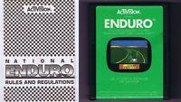 ORIGINAL Vintage TESTED 1983 Atari 2600 Enduro Game Cartridge + Manual