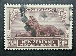 NUOVA ZELANDA 1920 FRANCOBOLLI DELLA VITTORIA 3 P. TIMBRATO USED (C.8)