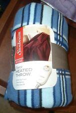 SUNBEAM Fleece Heated Throw Blanket - Blue