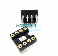 50pcs 8Pin DIP SIP Round IC Sockets Adaptor Solder Type gold plated machined new