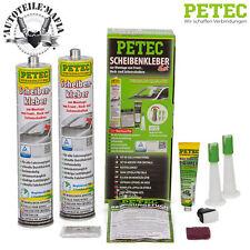 PETEC Scheibenkleber Set inkl 2x 310ml Scheiben-Kleber Kartusche Frontscheibe