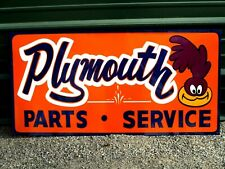 Vintage Metal Road Runner Dodge Plymouth Parts Service Truck 36 Car Hotrod Sign