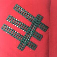 Ladder Rail Cover pack of 4 Carbine Length Green for Quad Rails Handguard