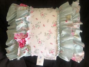 Rachel Ashwell Simply Shabby Chic Blue Hydrangeas Sofa Throw Pillow New