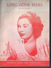 Long Gone Blues Billie Holiday Sheet Music