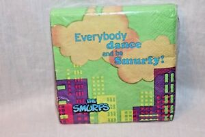 NEW  IN PACKAGE SMURFS 16 DESSERT NAPKINS  PARTY SUPPLIES