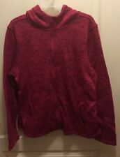Brand New Bobbie Brooks Women's Magenta Hooded Zip Up Comfy Jacket size XL NWT!